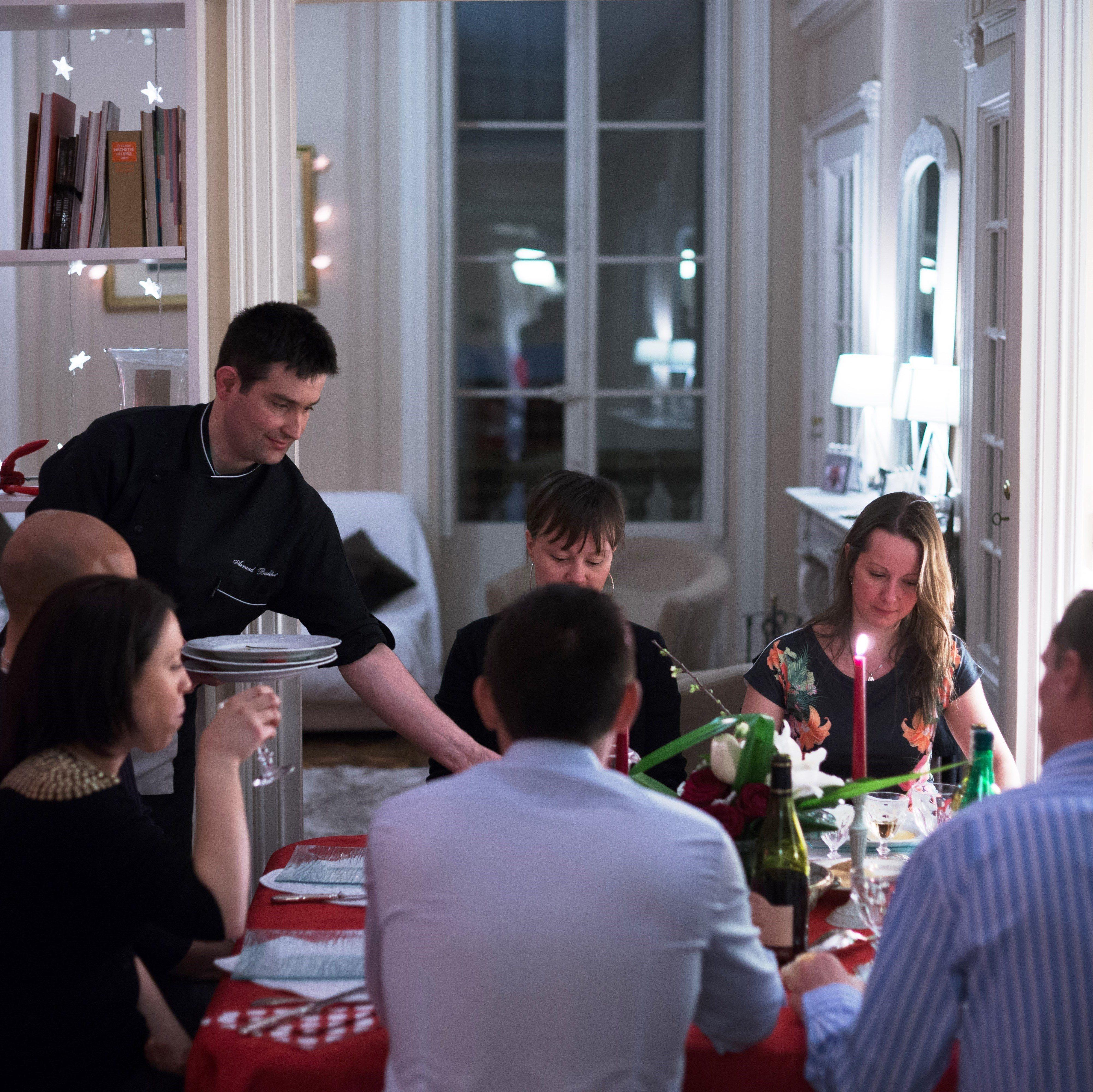 Repas gastronomique domicile entre amis angers for Repas noel entre amis