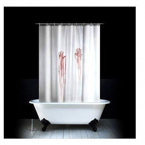 nouveau rideau de douche bain de sang bonne id e cadeau. Black Bedroom Furniture Sets. Home Design Ideas