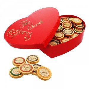 Boîte de chocolats cœur personnalisable