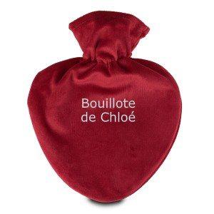 Bouillote-cœur personnalisée