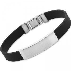 Bracelet en caoutchouc avec plaque gravée