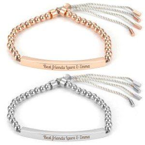 Bracelet perles gravé