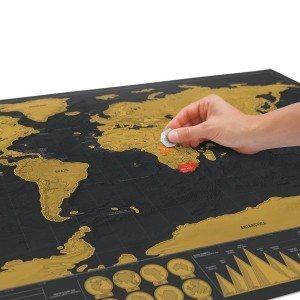 Carte du monde à gratter - Edition de luxe