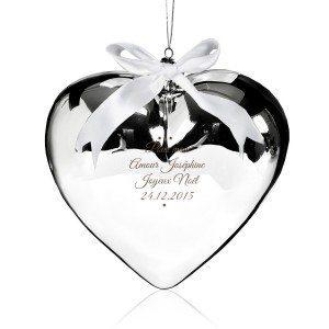 Cœur en verre gravé
