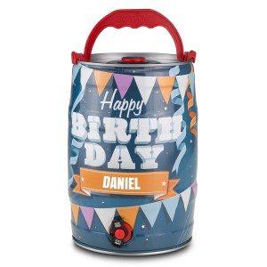 Fût de bière d'anniversaire personnalisé