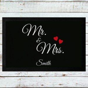 Paillasson Mr. & Mrs. personnalisé