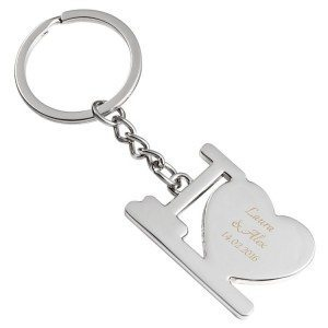 Porte-clés gravé - I love