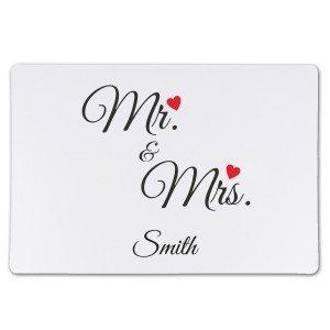 Set de table personnalisé textile Mr. & Mrs.
