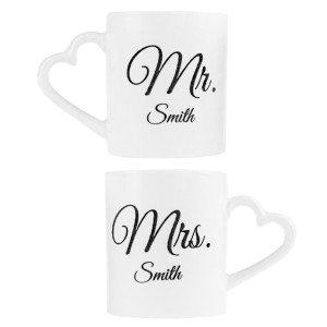 Tasses Mr. & Mrs. personnalisées