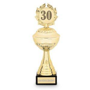 Trophée avec gravure personnalisée pour anniversaire