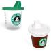 Un bébé avec une tasse café à emporter