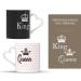 Tasses couple King & Queen - personnalisables avec prénoms