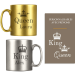 Tasses couple personnalisables Or & Argent - King And Queen