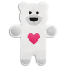 Coussin chauffant Ourson neige