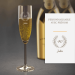 Coupe à champagne 40 ans – avec gravure