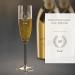 Coupe à champagne 18 ans – avec gravure